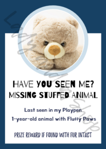 Large Party Group Games - Missing Animal Sign